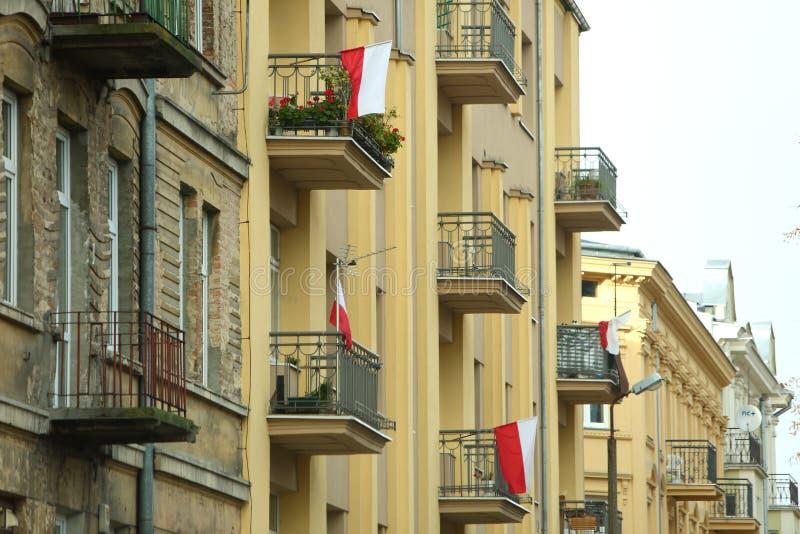 Flaga państowowa Polska obrazy royalty free