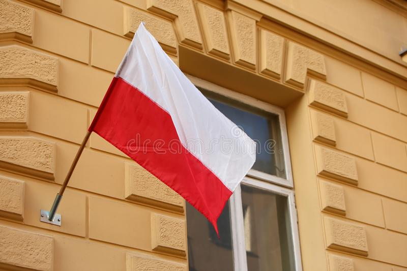 Flaga państowowa Polska zdjęcie royalty free