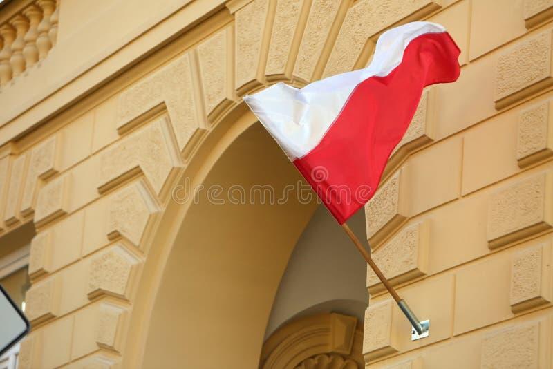 Flaga państowowa Polska fotografia royalty free