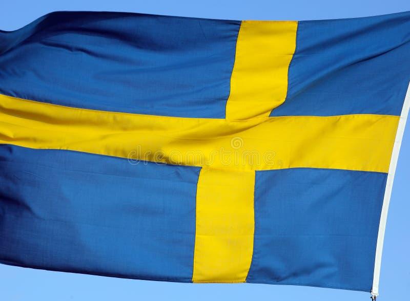 Flaga państowowa Szwecja obrazy royalty free