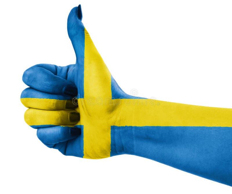 Flaga państowowa Szwecja fotografia stock