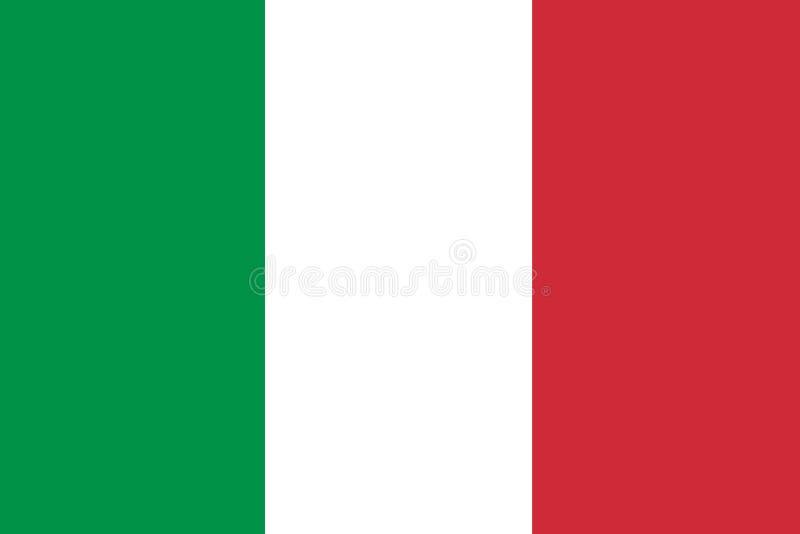 Flaga Państowowa Włochy tło dla redaktorów i projektantów Święto narodowe ilustracja wektor