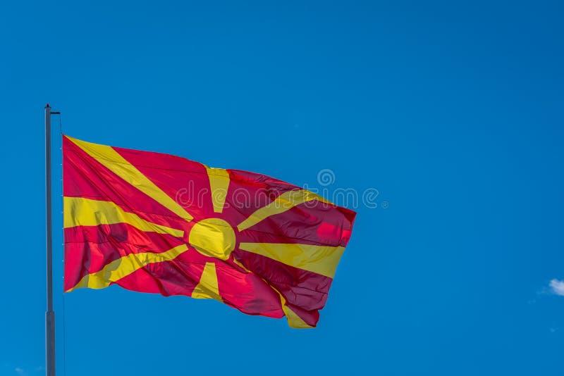 Flaga pa?stowowa Macedonia fotografia royalty free