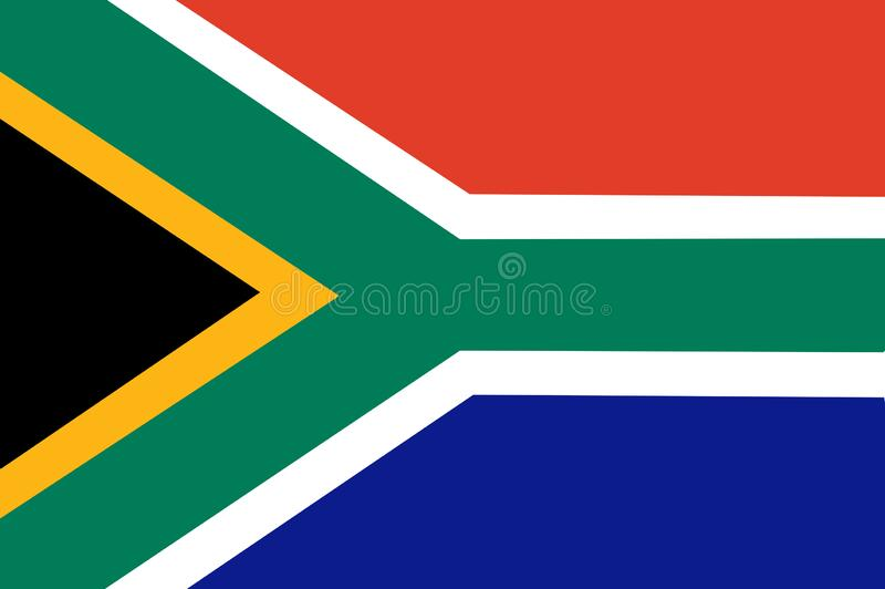 Flaga pa?stowowa Po?udniowa Afryka T?o z flag? Po?udniowa Afryka ilustracja wektor