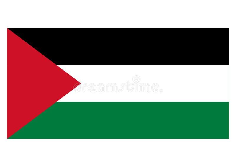 flaga Palestine ilustracja wektor