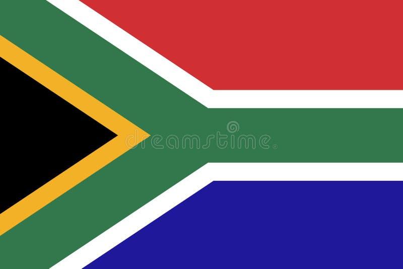 Flaga Południowa Afryka, Wektorowa Południowa Afryka flaga ilustracja wektor