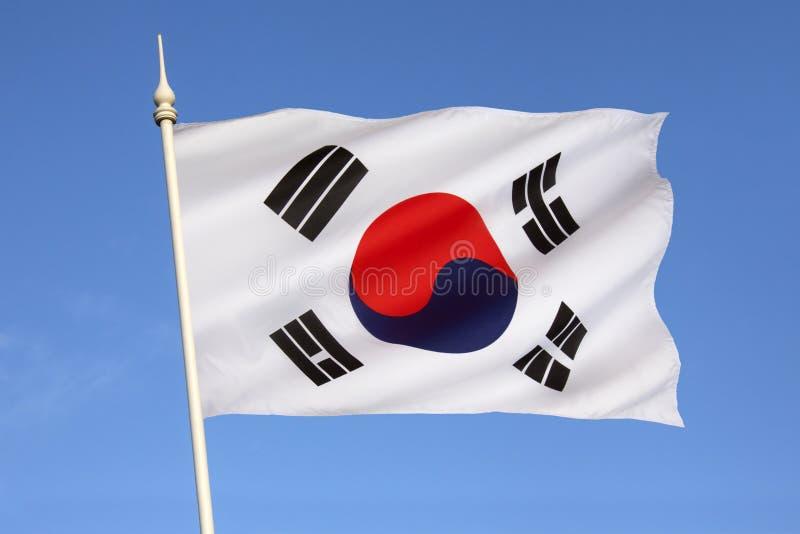 Flaga Południowy Korea zdjęcie royalty free