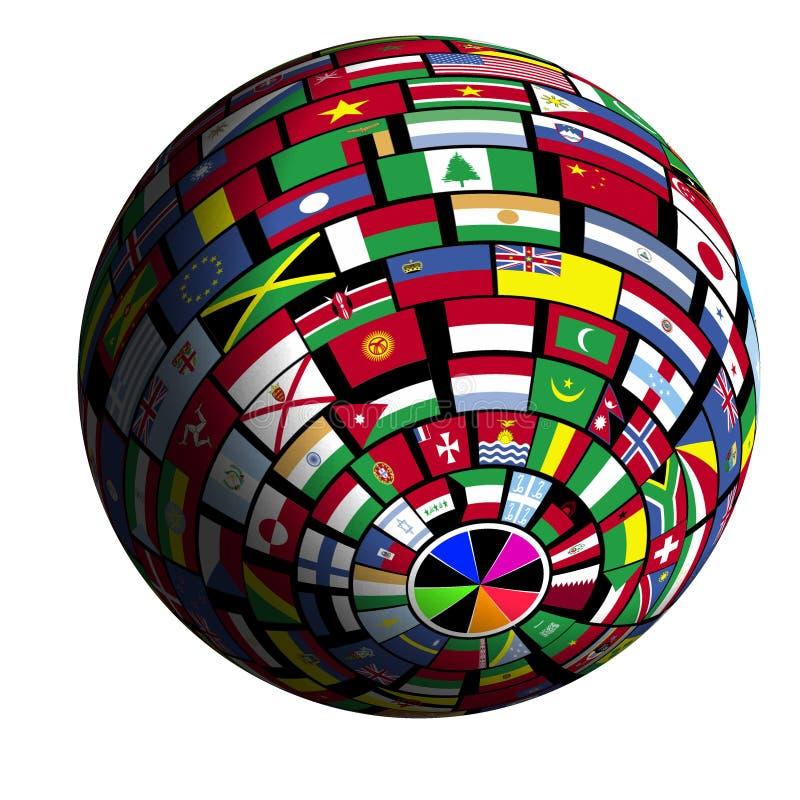 flaga polar3 objętych ziemi widok ilustracji