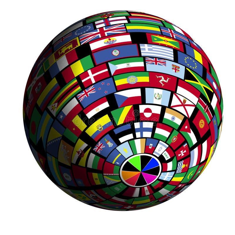 flaga polar4 objętych ziemi widok ilustracja wektor
