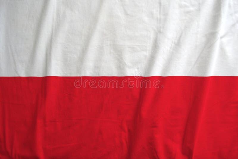 Flaga Polska falowanie fotografia royalty free