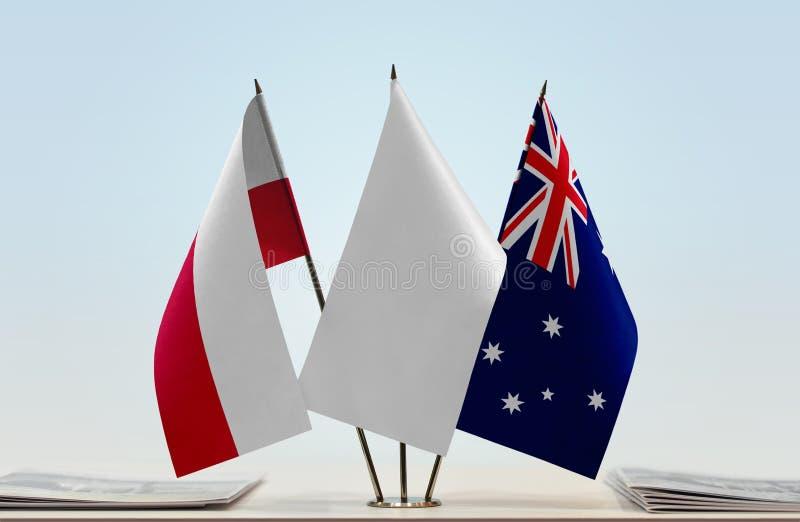 Flaga Polska i Australia fotografia royalty free
