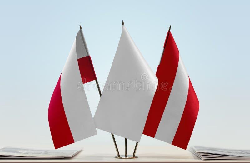 Flaga Polska i Austria zdjęcia stock