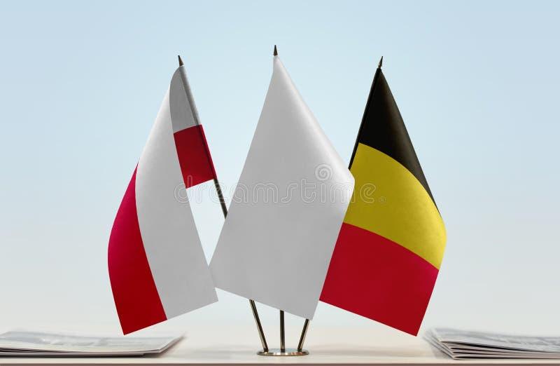 Flaga Polska i Belgia obraz stock