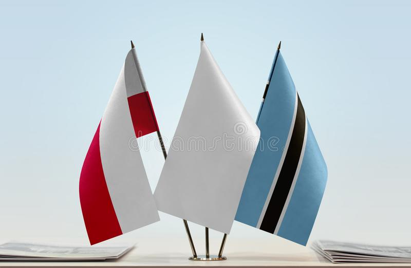 Flaga Polska i Botswana obrazy stock