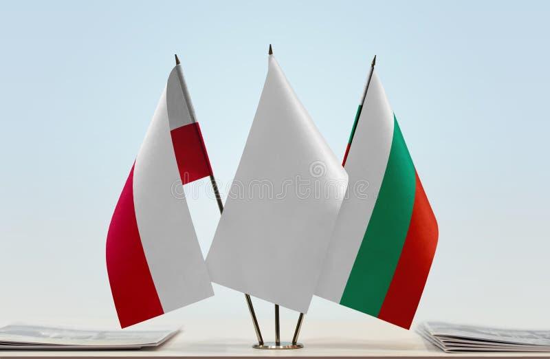 Flaga Polska i Bułgaria fotografia stock