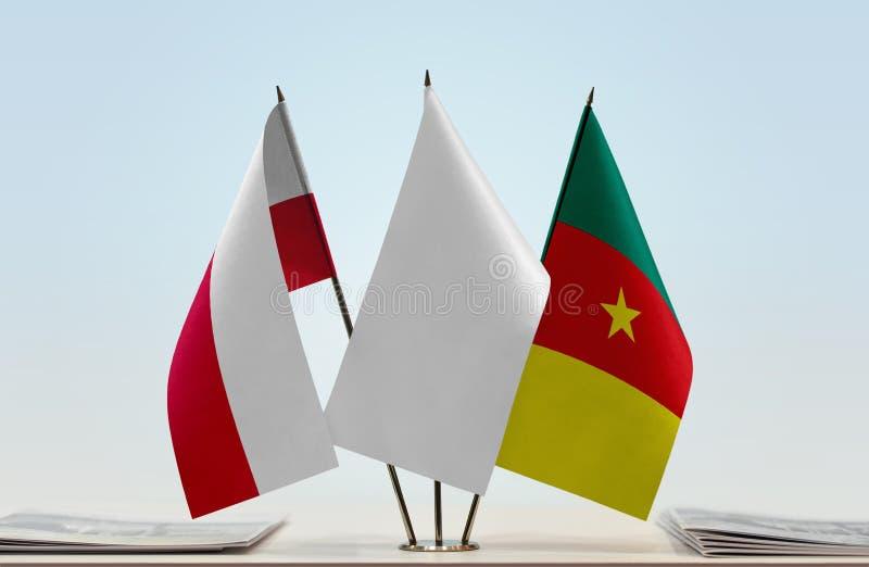 Flaga Polska i Cameroon fotografia royalty free