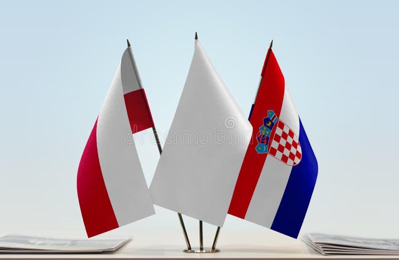 Flaga Polska i Chorwacja obrazy stock