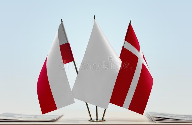 Flaga Polska i Dani obraz stock