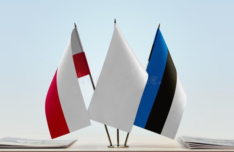 Flaga Polska i Estonia obraz royalty free