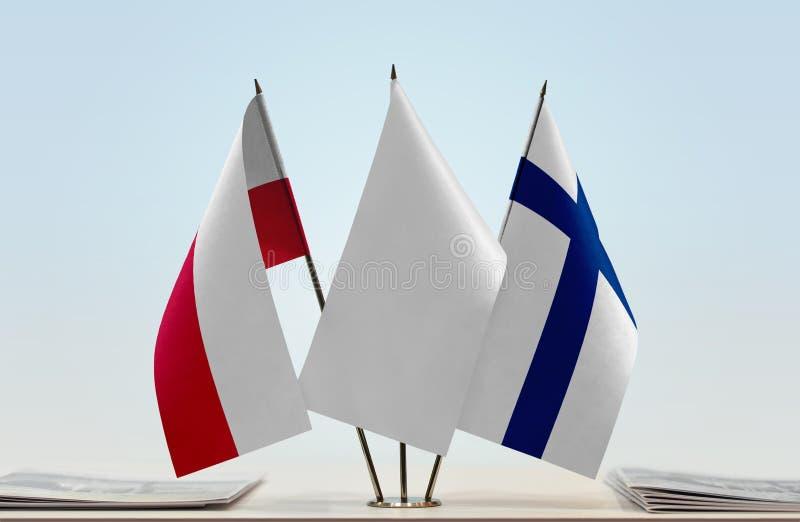 Flaga Polska i Finlandia obrazy royalty free
