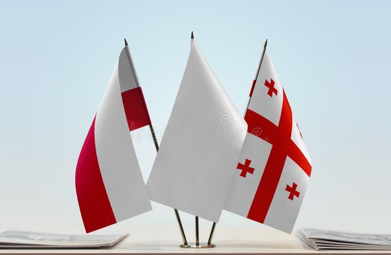 Flaga Polska i Gruzja zdjęcia royalty free