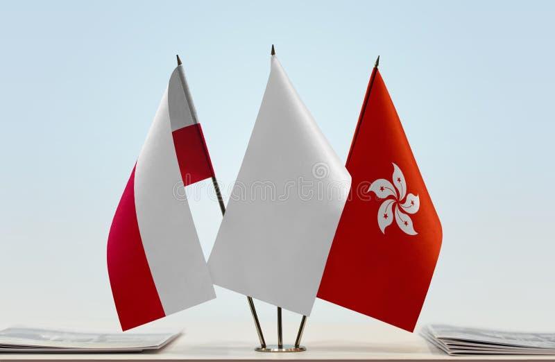 Flaga Polska i Hong Kong obrazy royalty free