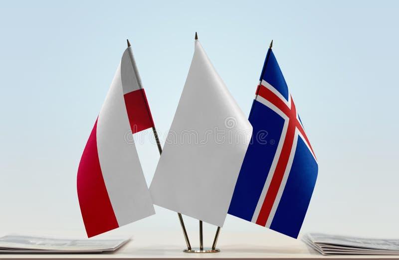 Flaga Polska i Iceland fotografia royalty free
