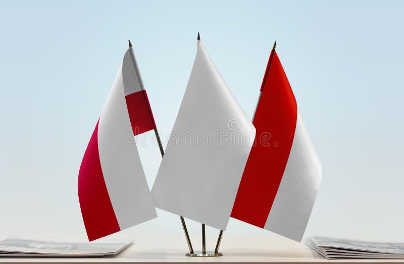 Flaga Polska i Indonezja obraz stock
