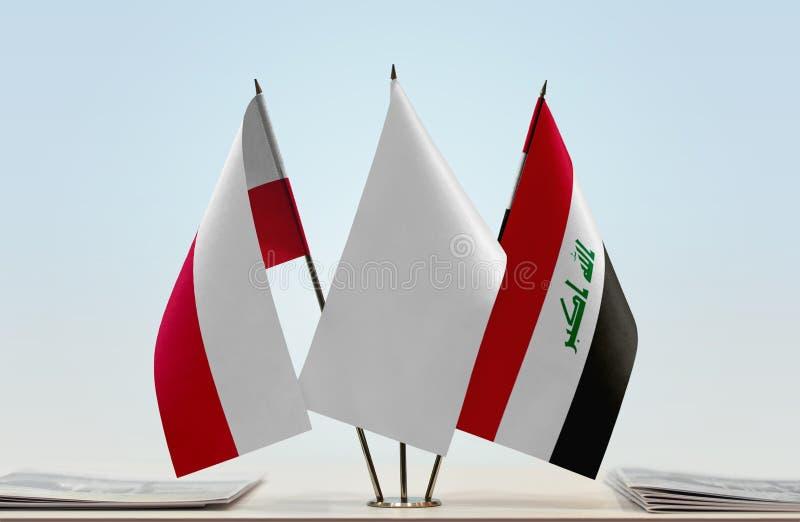 Flaga Polska i Irak fotografia royalty free