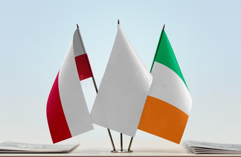 Flaga Polska i Irlandia obraz royalty free
