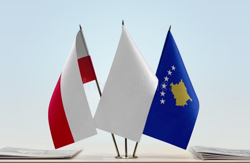 Flaga Polska i Kosowo zdjęcie stock