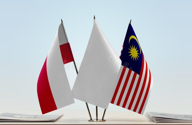 Flaga Polska i Malezja obraz royalty free
