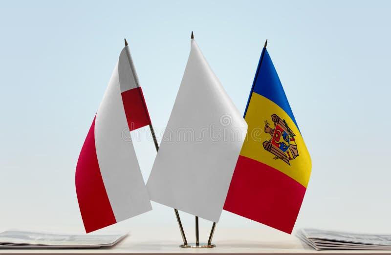 Flaga Polska i Moldova zdjęcia royalty free