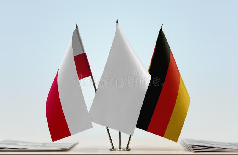 Flaga Polska i Niemcy zdjęcia stock