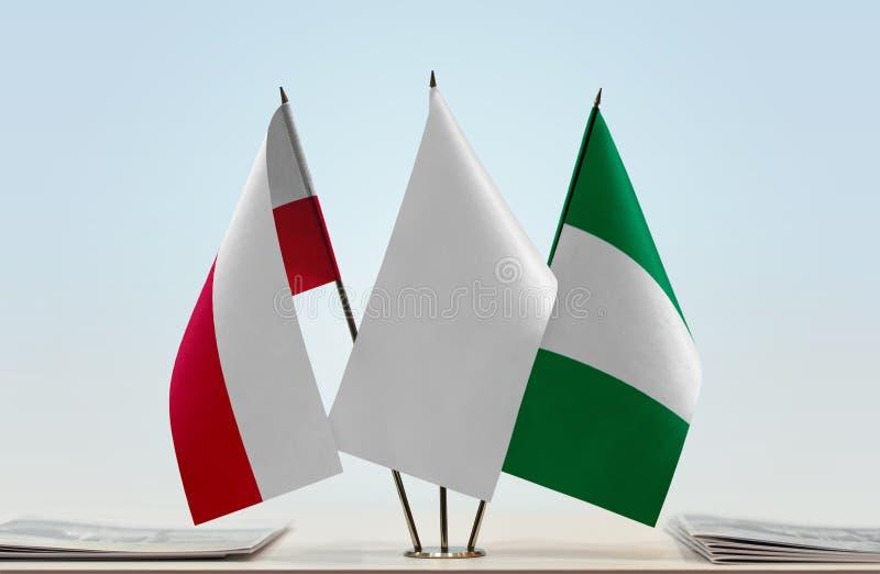 Flaga Polska i Nigeria obrazy stock