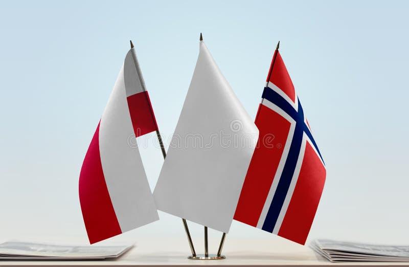 Flaga Polska i Norwegia obraz royalty free