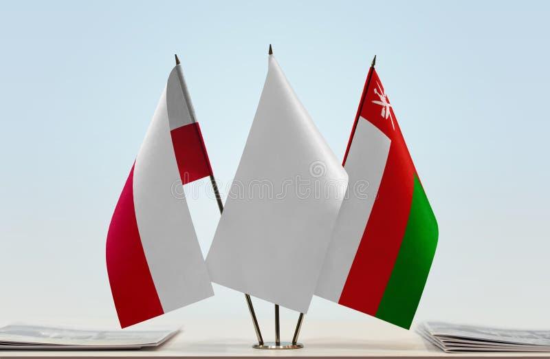 Flaga Polska i Oman obraz royalty free