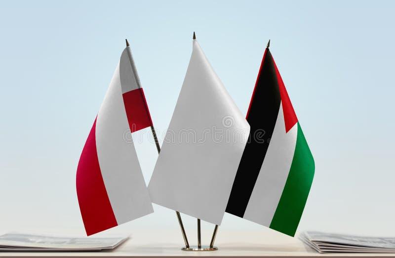Flaga Polska i Palestyna obrazy stock