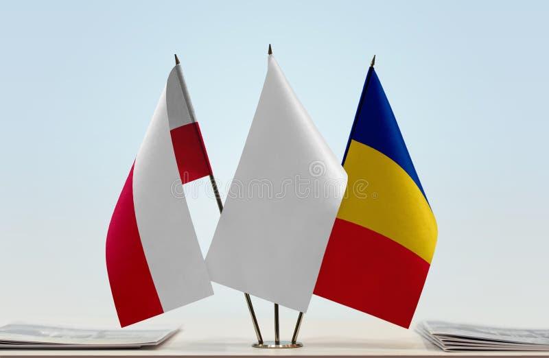 Flaga Polska i Rumunia zdjęcie stock