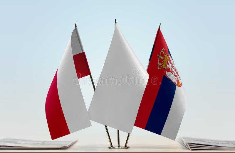 Flaga Polska i Serbia zdjęcie stock