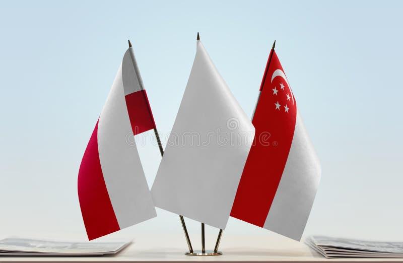 Flaga Polska i Singapur obrazy royalty free