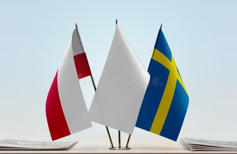 Flaga Polska i Szwecja obrazy royalty free