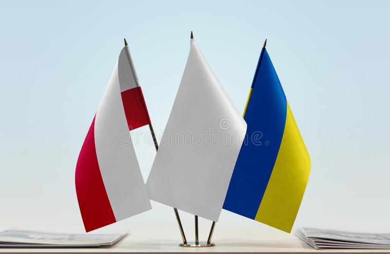Flaga Polska i Ukraina fotografia stock