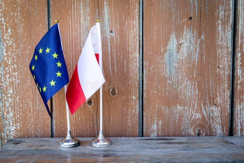 Flaga Polska i unia europejska obraz stock