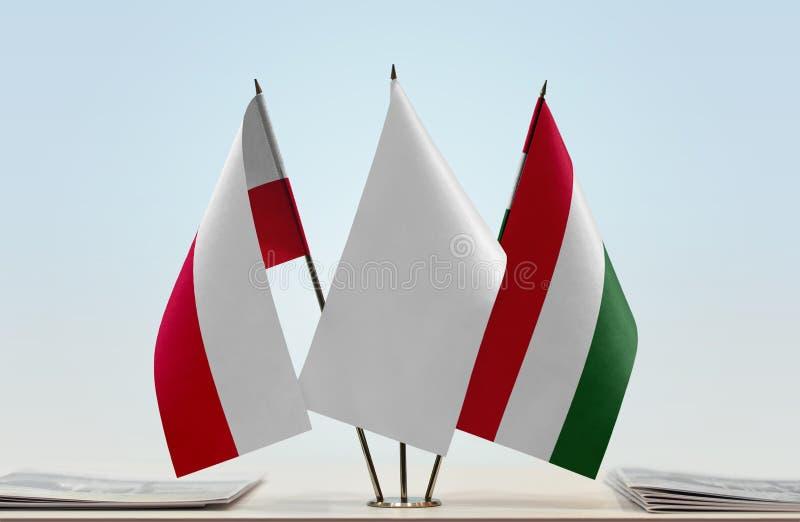 Flaga Polska i Węgry fotografia royalty free
