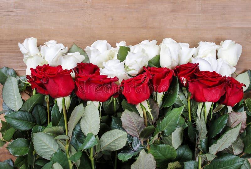 Flaga Polska zrobił kwiaty obrazy stock