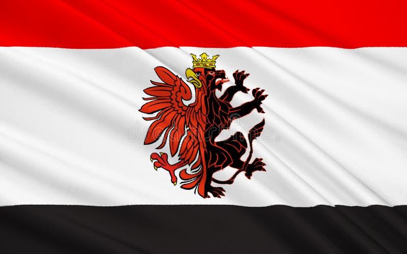 Flaga pomorzanka Voivodeship w północnym Polska zdjęcie royalty free