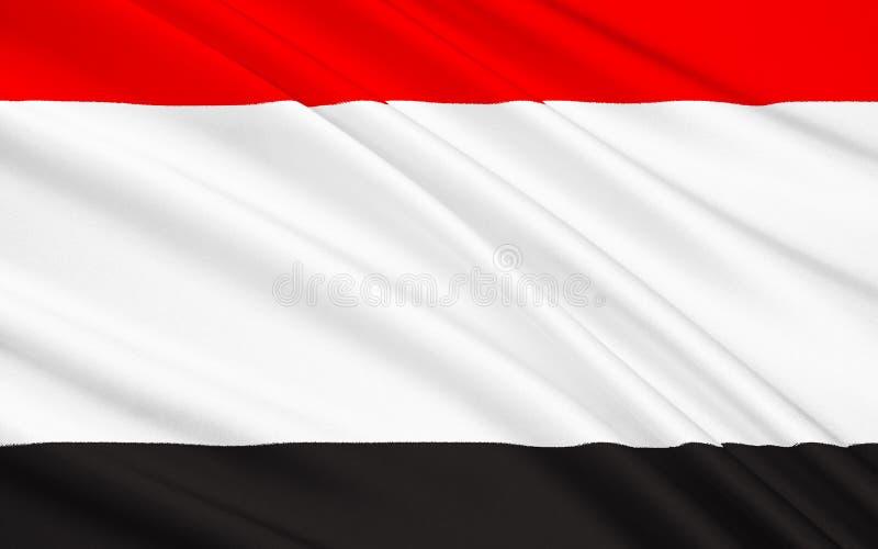 Flaga pomorzanka Voivodeship w północnym Polska obraz royalty free