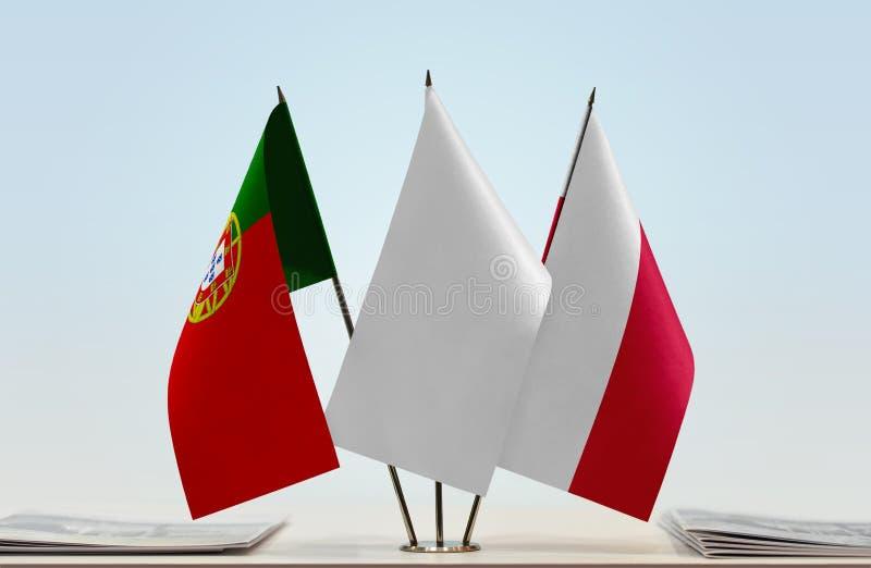 Flaga Portugalia i Polska zdjęcie stock