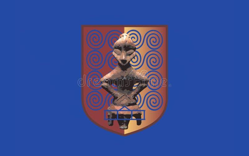 Flaga Pristina, Kosowo fotografia stock